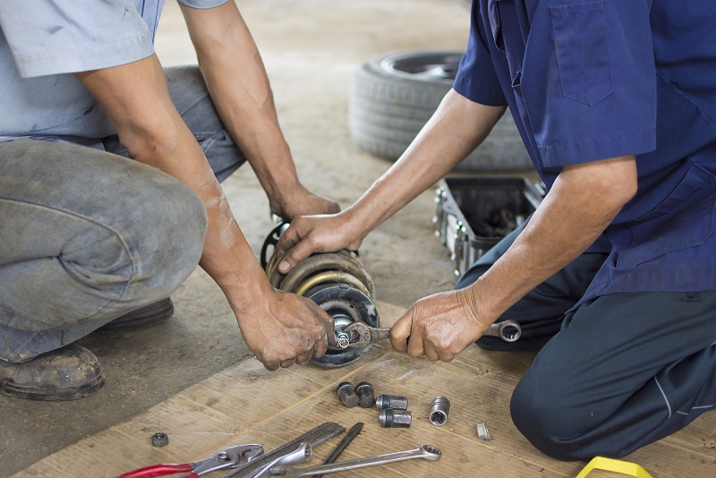 replacing a shock absorber