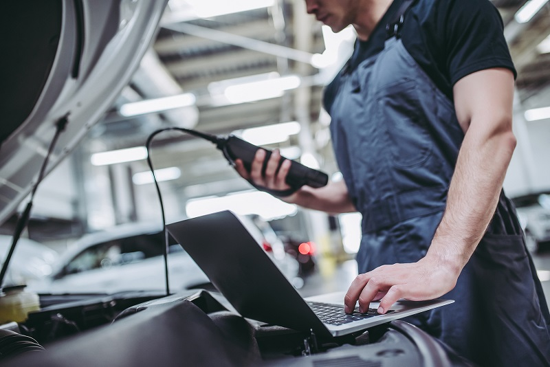 local mechanic checks reason for check engine light - ASE Certified Technicians